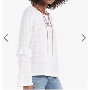 Lucky Brand Ruffled Sleeve Top